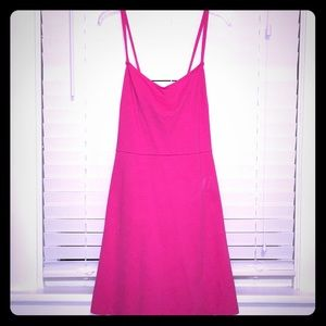 Old Navy pink fit and flare dress